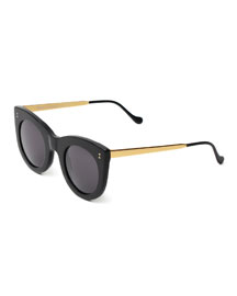 Boca II Cat-Eye Sunglasses, Black