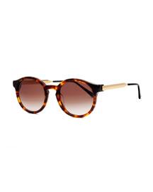 Silenty Round Sunglasses, Havana