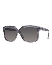 I-Plastik Brushed Square Sunglasses, Gray