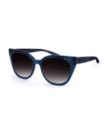 Shirelle Gradient Cat-Eye Sunglasses, Blue
