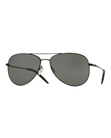 Kannon Polarized Aviator Sunglasses, Black