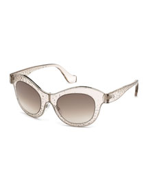 Bubble Butterfly Sunglasses, Dove Gray