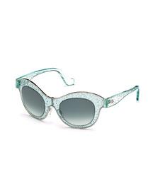 Bubble Butterfly Sunglasses, Azure