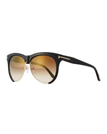 Dual-Rimmed Sunglasses, Black