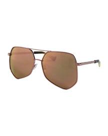 Megalast Oversized Aviator Sunglasses, Pink