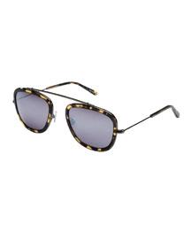Huey Mirrored Aviator Sunglasses, Caminda