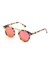 St. Louis Mirrored Round Sunglasses, Audubon
