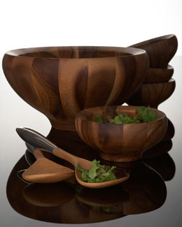 Nambe Yaro Salad Bowl & Servers