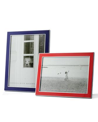 Silver Plate & Enamel Frame