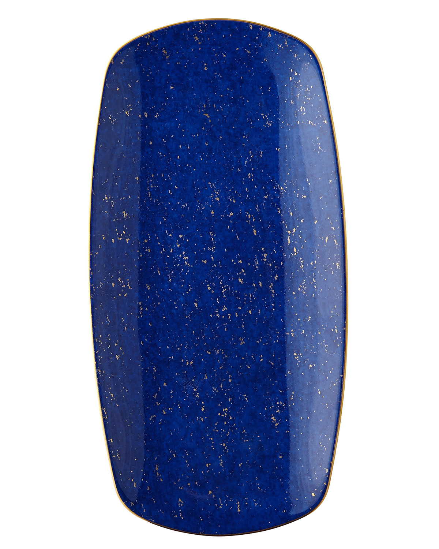 L'Objet Lapis Medium Rectangular Tray, Blue