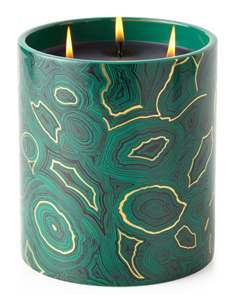 Fornasetti Triple-Wick Malachite Candle