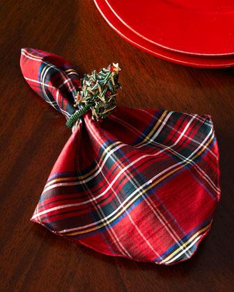 Beaded Christmas Tree Napkin Ring