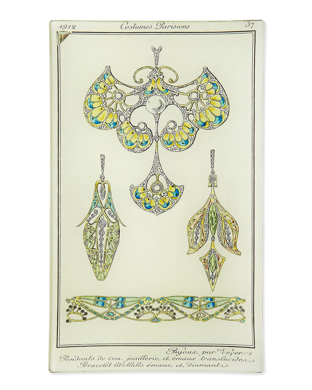 John Derian Costumes Parisiens Jewelry Plate