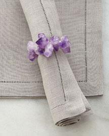 Purple Amethyst Napkin Ring