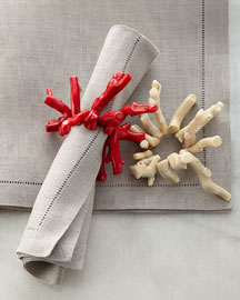 Polished Coral Napkin Ring