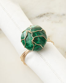 Malachite Napkin Ring