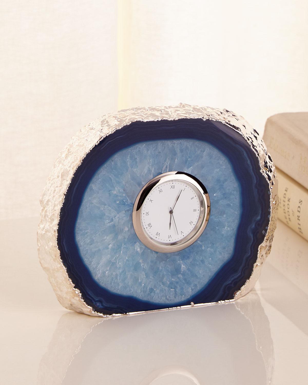 Rab Labs Tempo Silver-Edge Azure Clock