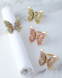 Butterfly Napkin Rings, 4-Piece Set