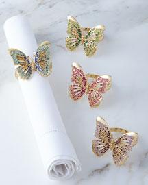 Butterfly Napkin Rings, 4-Piece Set