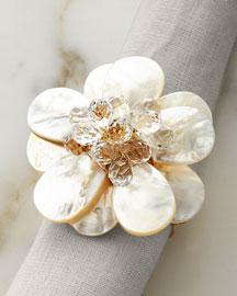 Pearl Flower Napkin Ring