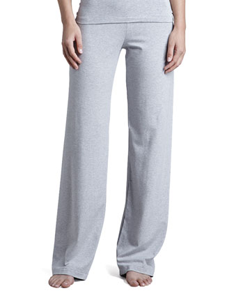 Tricot Relaxed Pants, Gray