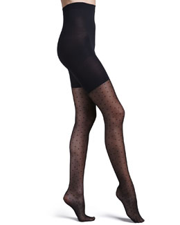 Spanx Sheer Fashion Pantyhose, Swiss Dot
