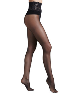 Commando Lace-Waist Premier Sheer Tights