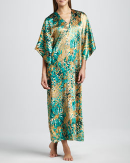 Oscar de la Renta Jewel Reflections Long Caftan
