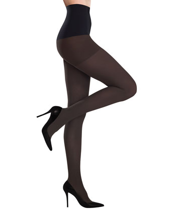Ultimate Opaque Control Tights, Chocolate