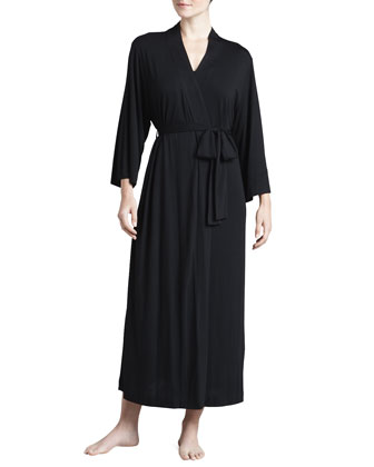 Shangri-La Jersey Robe, Women's, Black