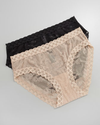 Bliss Lace Girl Briefs, Black