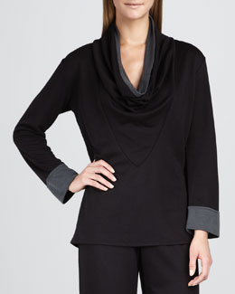 Natori Cowl-Neck Lounge Top