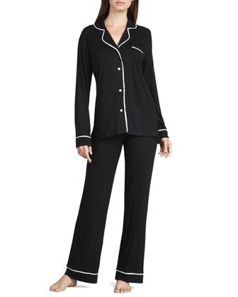 Jersey Pajamas, Black/Ivory