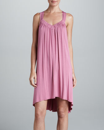 Jersey Short Gown, Rose