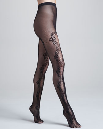 Valencienne Lace Tights