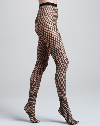 Sylvie Diamond-Pattern Tights