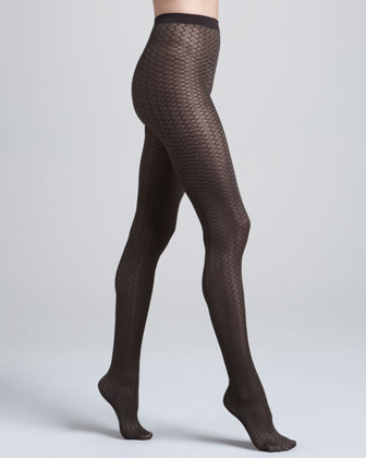 Cross Line Tights, Maroon