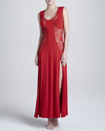 El Color Rojo Long Gown, Ruby
