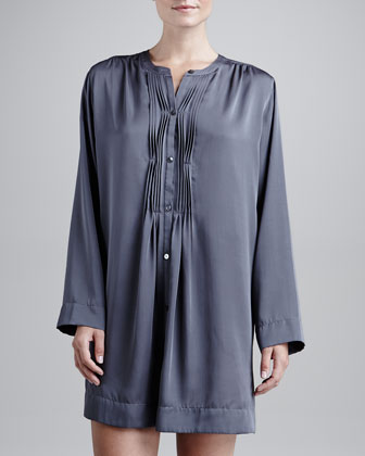 Laundered Satin Sleepshirt