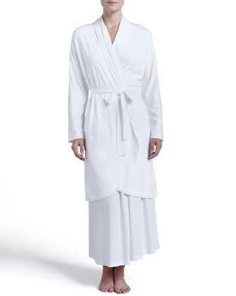 Pima Cotton Robe & V-Neck Gown