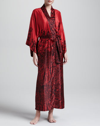 Phoenix Long Sateen Robe