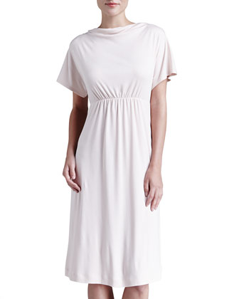 Laura Drape-Neck Lounge Dress