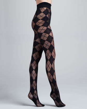 Argyle Semisheer Tights