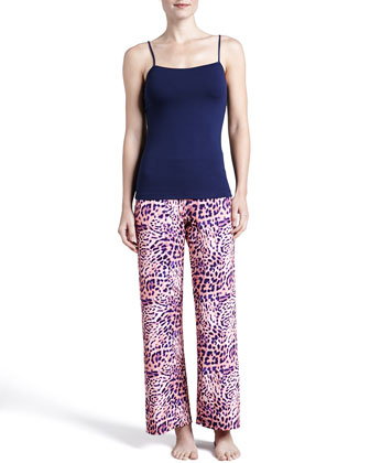 Vindemia Animal-Print Pants, Bellini