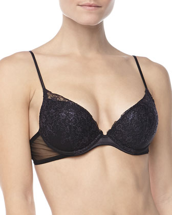 Sparkling Jasmine Push-Up Bra, Nero