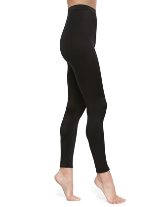 Satin De Luxe Leggings, Black