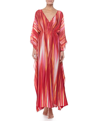 Hayworth Long Caftan, Azalea