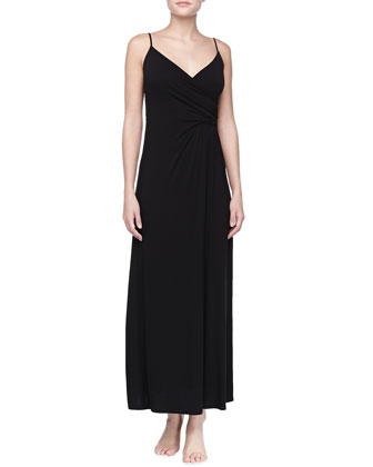 Liquid Jersey Long Gown, Black