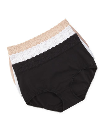 Cotton-Suede Full-Cut Briefs