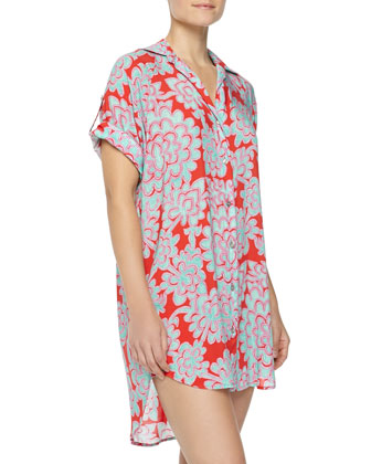 Glamour Floral Sleep Shirt